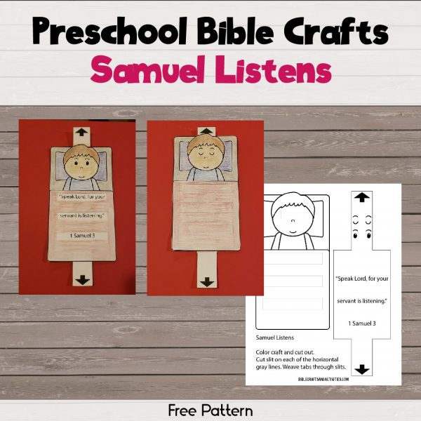 paper craft template for Samuel Listens to God