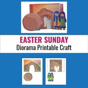example of empty tomb diorama paper craft