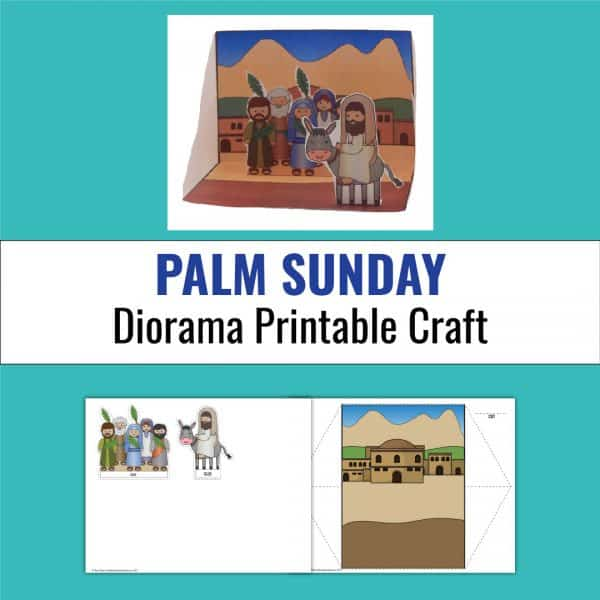 example of palm sunday diorama paper craft