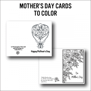 mother's day cards to color