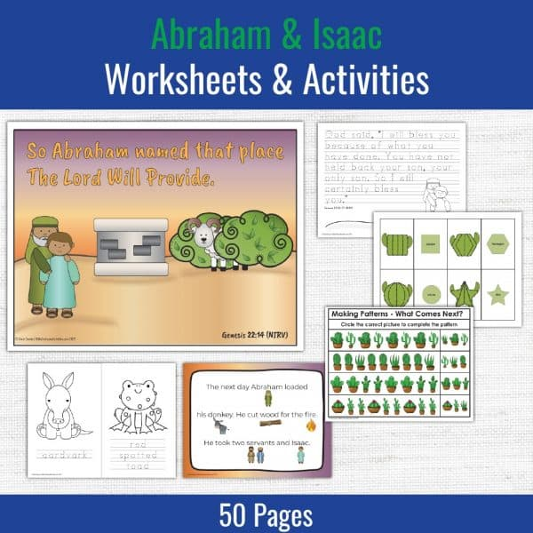 preschool printables for the story of Abraham and Isaac