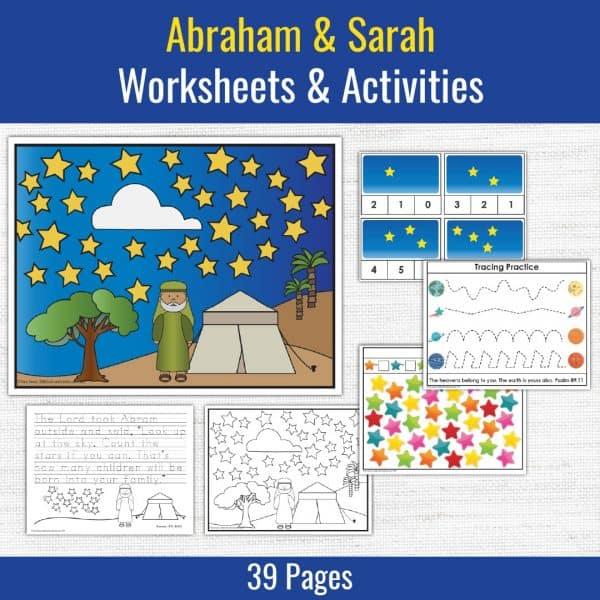 samples of preschool printables for the bible story about abraham and sarah