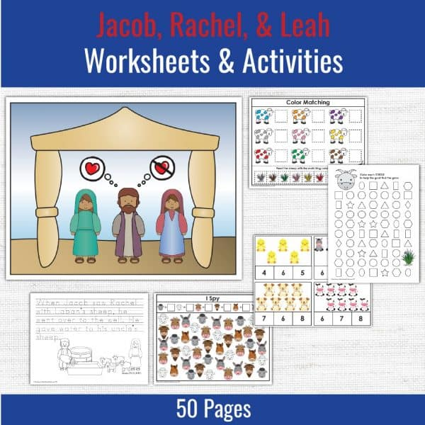 preschool printables for the story of jacob rachel and leah
