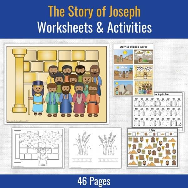 preschool printables for the story of joseph