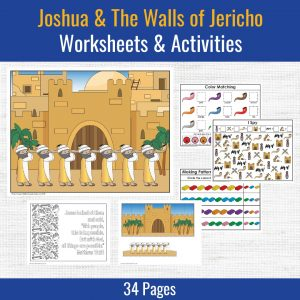 preschool printables for joshua and the walls of jericho