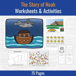 products samples of preschool printables included with the story of noah lesson