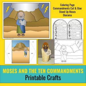 paper crafts for moses and the ten commandments